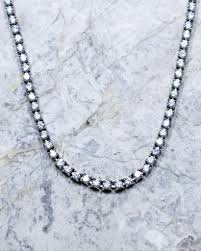 white necklace images Diamond tennis necklace in white gold the gold mind jpg