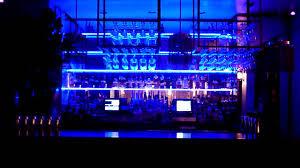 led lighted bar shelves led light behind the bar glass shelves youtube