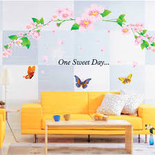 compare prices on butterfly room decoration online shopping buy one sweet day removable plastic home decor wall stickers creative room decoration butterfly flower vinyl mural