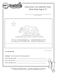 coloring page state flag california printable worksheet