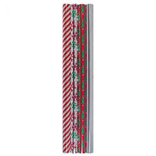 events foil wrapping paper 4 ct assorted