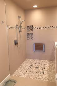 advantages and disadvantages of a curbless walk in shower tile