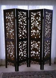 Chinese Room Dividers by Vintage Asian Chinese 4 Panel Wood Carved Teak Folding Screen Room