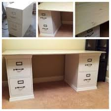 Diy File Cabinet Desk Metal File Cabinet Desk Home Design Ideas