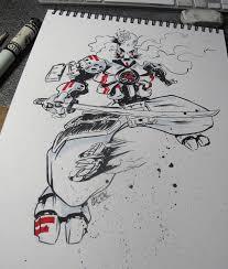 mecha samurai sketch by quetzalrevolver on deviantart