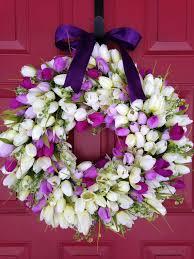 Tulip Wreath Spring Tulip Wreath Pink Tulip Wreath From Baywreathdesigns