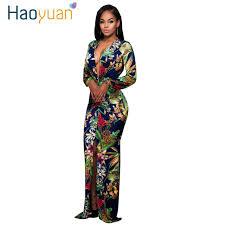 sexi maxi dresses haoyuan maxi dress 2018 women split sleeve print autumn