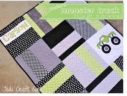 monster truck baby quilt