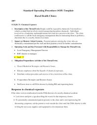9 standard operating procedure sop templates word excel pdf