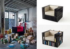 Bookshelf Chair Bookcase Chair Hybrid Now With New Mini Shelved Ottoman Urbanist