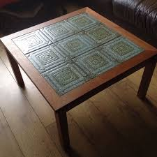 danish design made in denmark trioh coffee table with tiled top