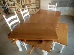 Expandable Farm Table Custom Wood Tables Handcrafted Farmhouse Dining Tables