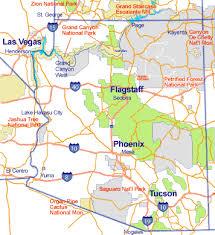 az city map map of arizona