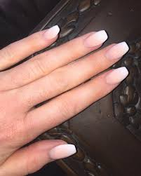 french ombre coffin nails nail swag hair beauty pinterest