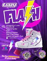 roller skates with flashing lights amazon com crazy skates flash roller skates for kids led light