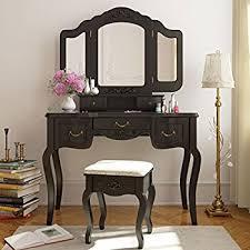 Vintage Vanity Table Amazon Com Bobkona F4072 St Croix Collection Vanity Set With