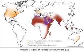 Map Practice The Henna Page The Encyclopedia Of Henna