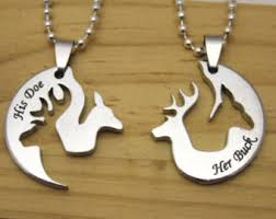 buck and doe couples necklace deer necklace for couples all collections of necklace