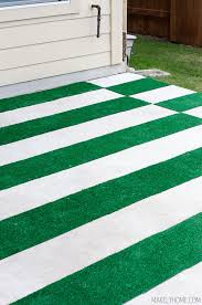 astroturf diy astroturf grass striped patio rug makely