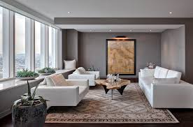 Living Room With Area Rug by Window Sill Contemporary Living Room Decorators San Francisco Area