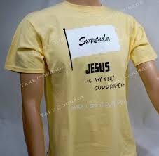 light yellow t shirt jesus is my only surrender christian t shirt light yellow