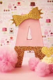 pink and gold cake table decor pink and gold party decor cake table letters by pretty little party