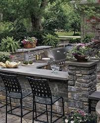 L Shaped Outdoor Kitchen by Outdoor Kitchens Black Dog Design Blog
