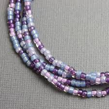 multi color necklace images Purple seed bead necklace multi color single strand kathy bankston jpg