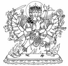 hindu gods and goddesses stained glass coloring book by marty