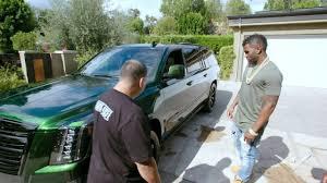 cadillac escalade 2017 custom jason derulo u0027s cadillac escalade has green chameleon paint
