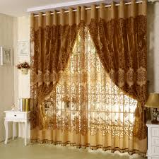 Burnt Orange Sheer Curtains Quality Burnt Out Fashion Modern Sheer Curtains With Blackout 1 2