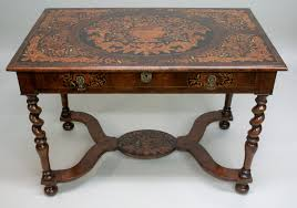 william and mary table a william and mary marquetry stretcher table 422483