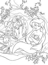 ariel mermaid return childhood coloring pages
