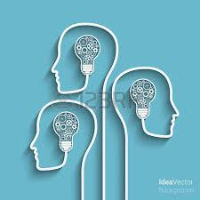 human heads creating a new idea background eps10 vector for