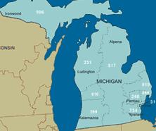 area code map of michigan michigan area code information phone customer service and