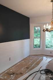 Diy Chair Rail Wainscoting Diy Shiplap Inspired Wall Tutorial An Easy And Inexpensive