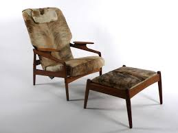 danish modern lounge chair and ottoman 1950 u0027s cowhide