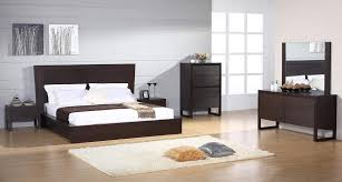 Wenge Bedroom Furniture Contemporary European Style Wenge Bedroom Set In Brown Montana