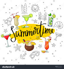 cosmopolitan clipart summertime surroundings cocktails summer icons fashionable stock