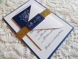 wedding invitations gold coast navy wedding invitation with gold glitter belly band gold wedding