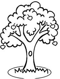 apple tree coloring free printable coloring pages