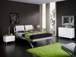 black and white and green bedroom