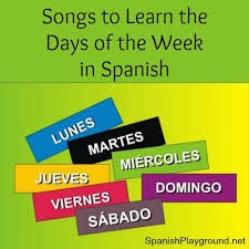 days of the week archives spanish playground