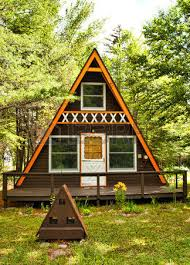 small a frame cabin small a frame cabin in the woods stock photo picture and royalty