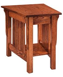 Amish End Tables by Leah Wedge End Table Amish Direct Furniture