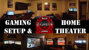 epic game room setup with bonus home theater room setup youtube