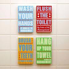 ready to hang bathroom art bathroom decor set of 4 by order of