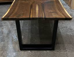 Wood Legs For Tables Live Edge Dining Tables And Custom Hardwood Table Tops