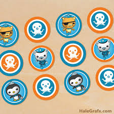octonauts cake toppers printable octonauts cupcake toppers
