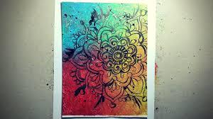 how to paint a mandala youtube